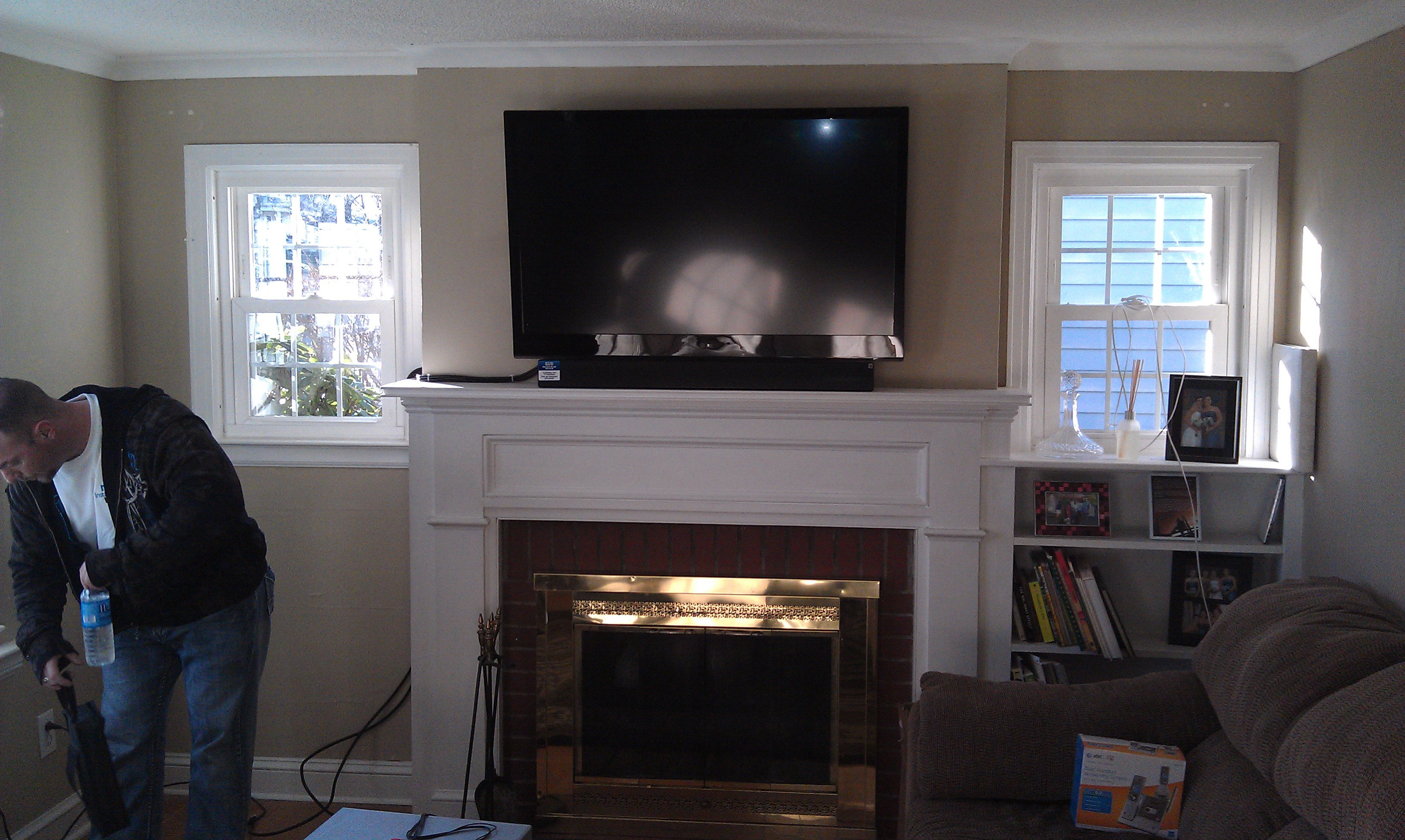 Best ideas about Mounting Tv Above Fireplace . Save or Pin richeygroup Home Theater Installation Now.