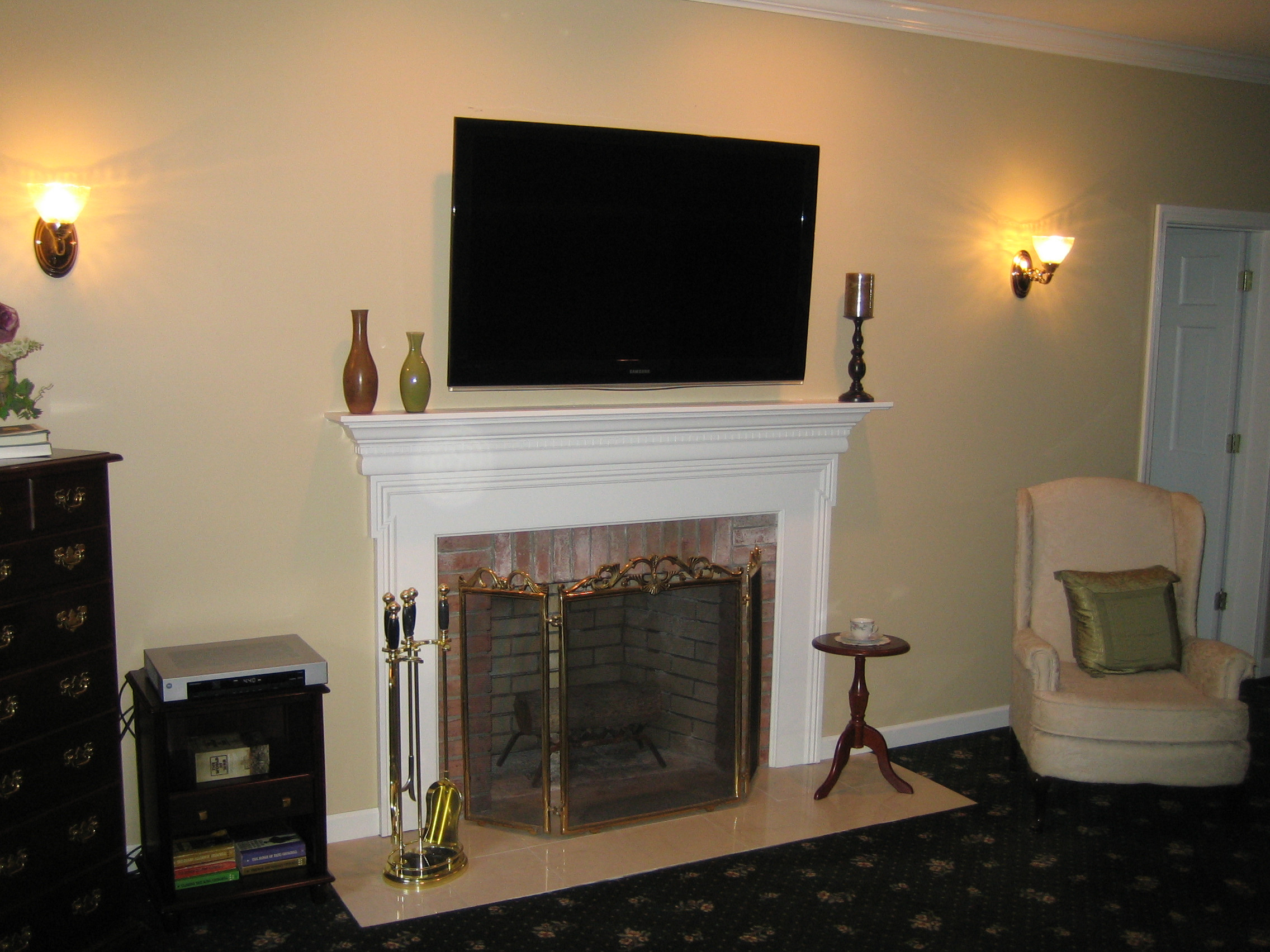Best ideas about Mounting Tv Above Fireplace . Save or Pin Mounting Tv Fireplace Now.