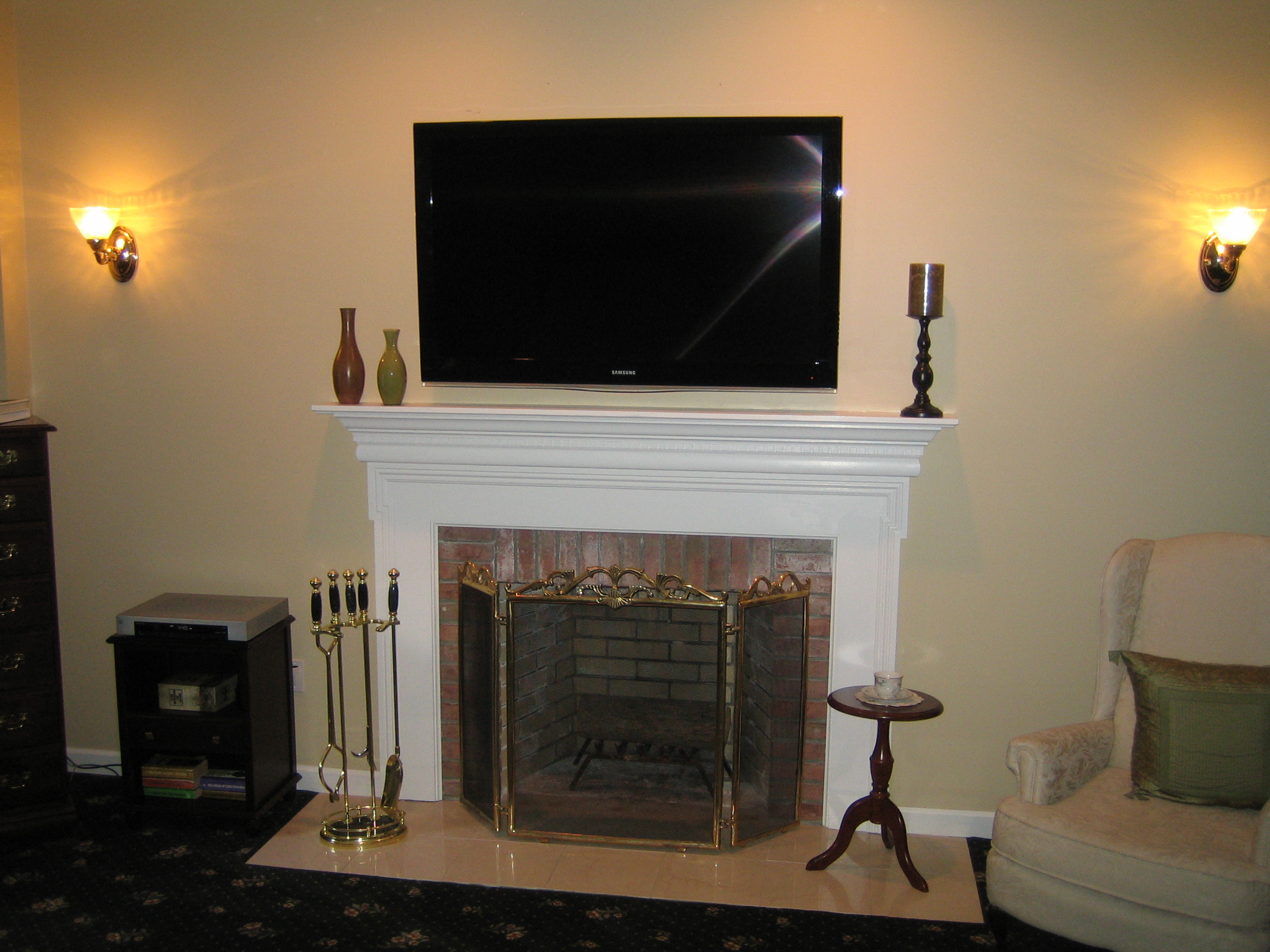 Best ideas about Mounting Tv Above Fireplace . Save or Pin Clinton CT mount tv above fireplace Now.