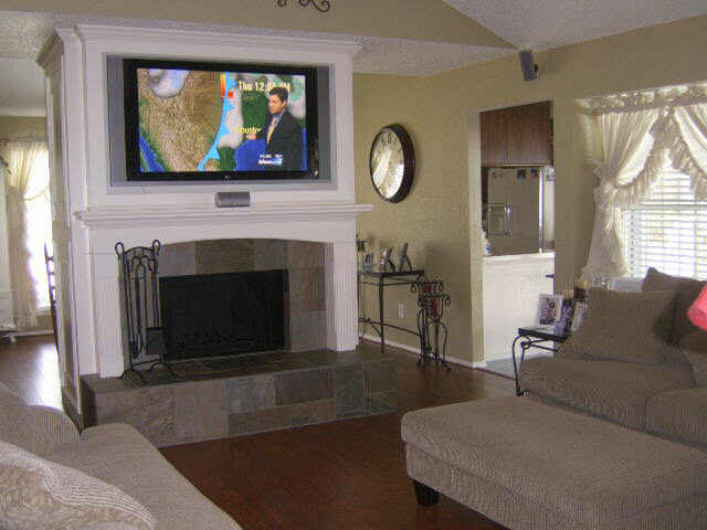 Best ideas about Mounting Tv Above Fireplace . Save or Pin Ideal TV Height Mounting Fireplace Home Theater Now.