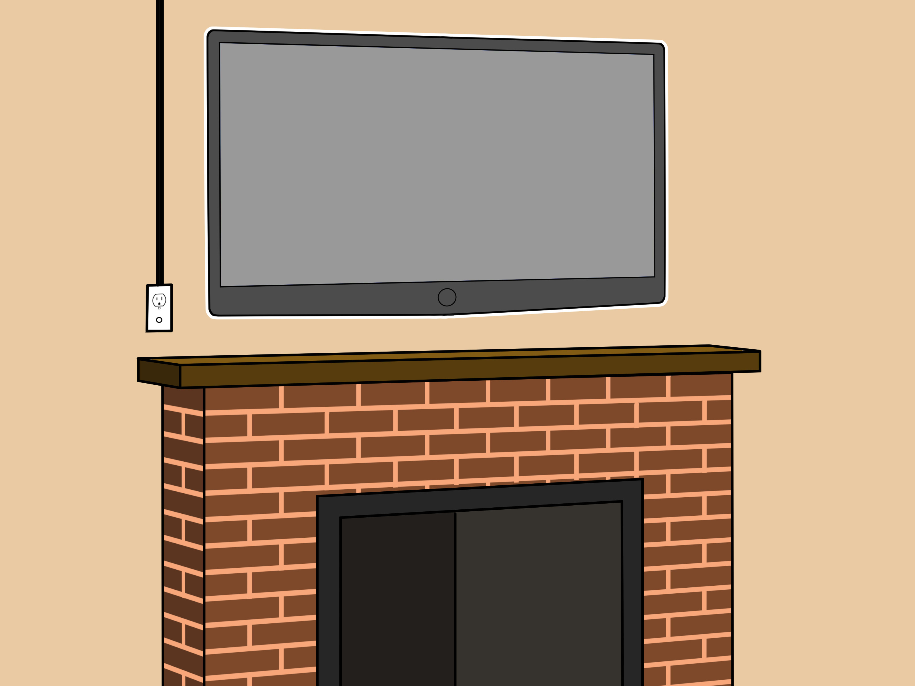 Best ideas about Mounting Tv Above Fireplace . Save or Pin How to Mount a Fireplace TV Bracket 7 Steps with Now.