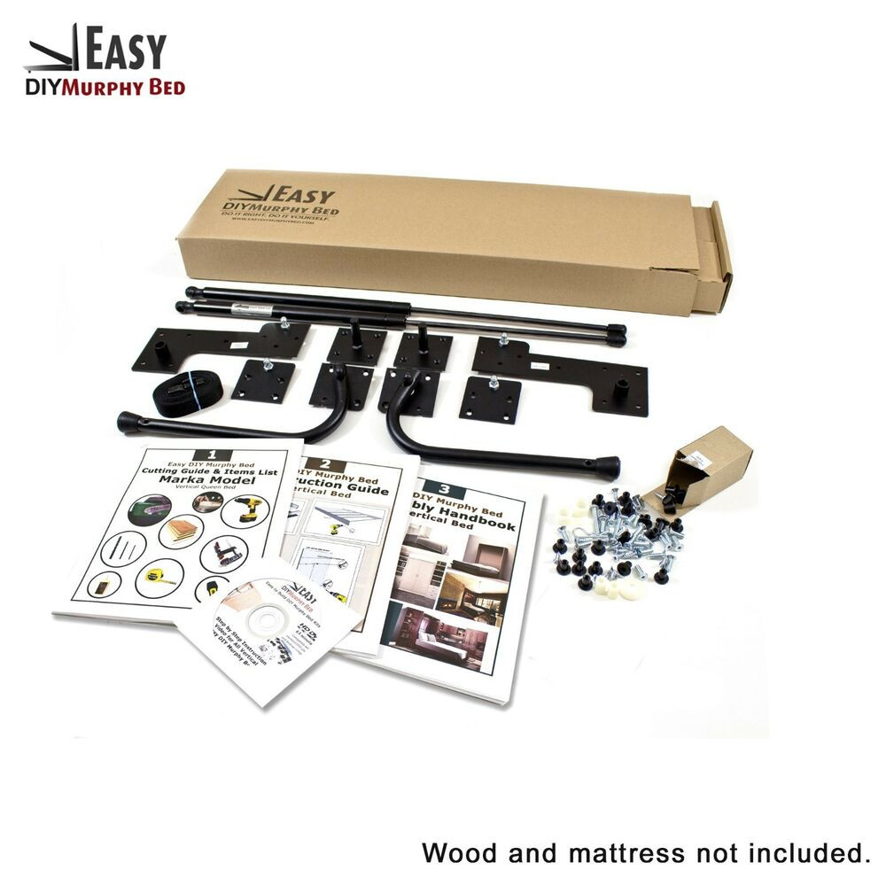 Best ideas about Murphy Bed Hardware Kit DIY . Save or Pin Full Size DIY Horizontal Murphy Wall Bed Hardware Kit Now.