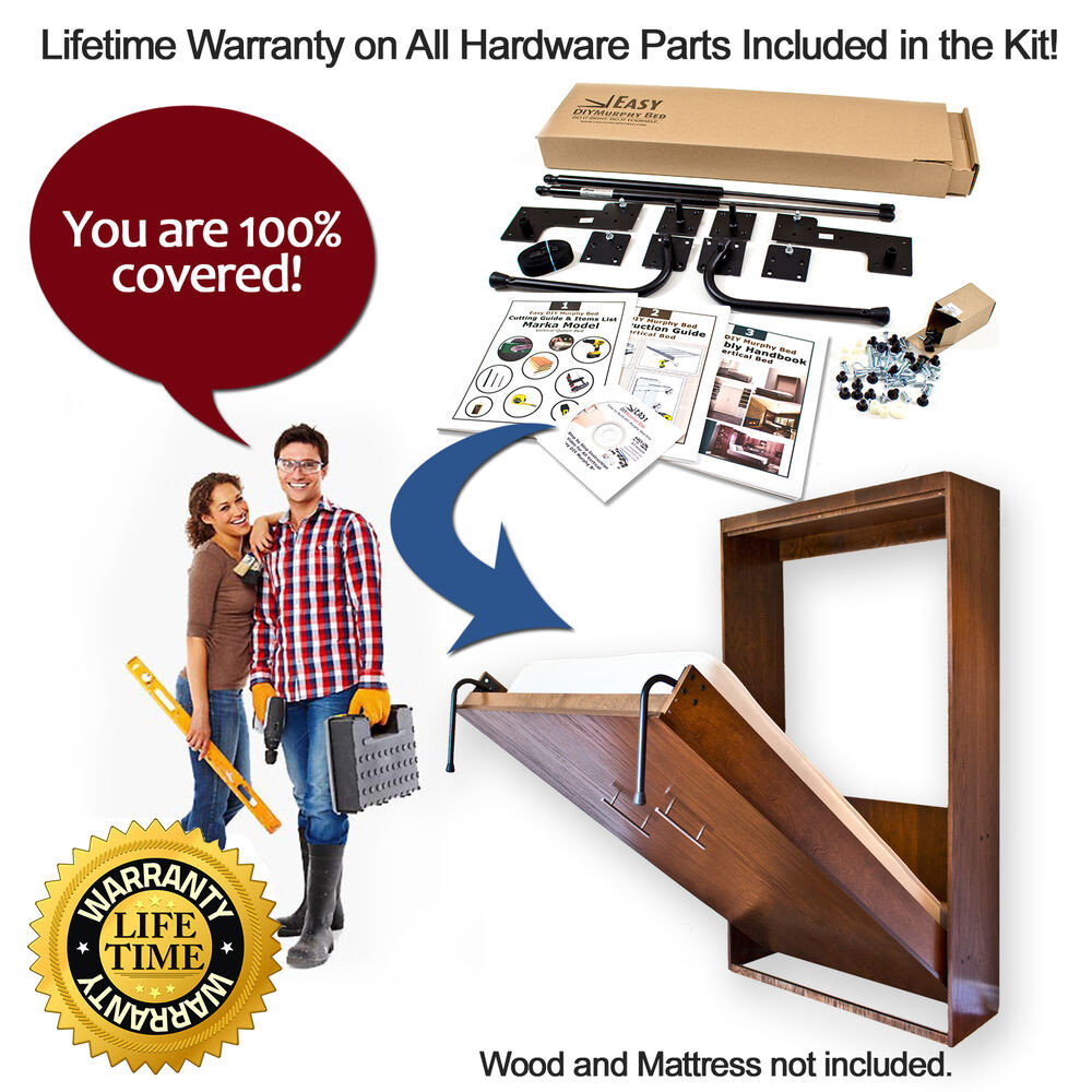 Best ideas about Murphy Bed Hardware Kit DIY . Save or Pin Twin Size Easy DIY Murphy Bed Hardware Kit Vertical Wall Now.