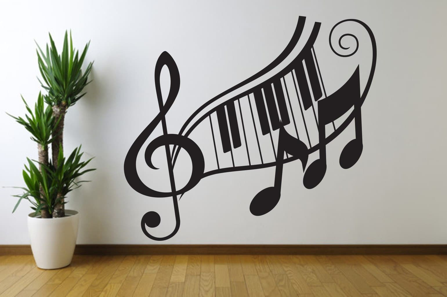 Best ideas about Music Wall Art . Save or Pin Music note treble clef wall art decal Now.
