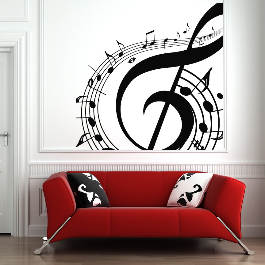 Best ideas about Music Wall Art . Save or Pin Music Notes Swirl Wall Art Sticker Wall Art Decals Now.