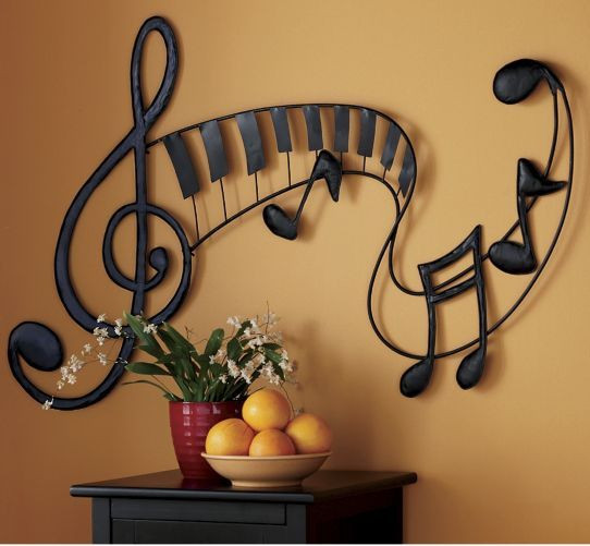 Best ideas about Music Wall Art . Save or Pin pretty sure i should paint something like this on my Now.