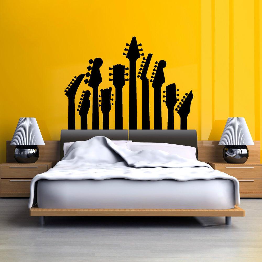 Best ideas about Music Wall Art . Save or Pin ROW OF GUITAR NECKS WALL ART STICKER MUSIC DECAL ROCK Now.