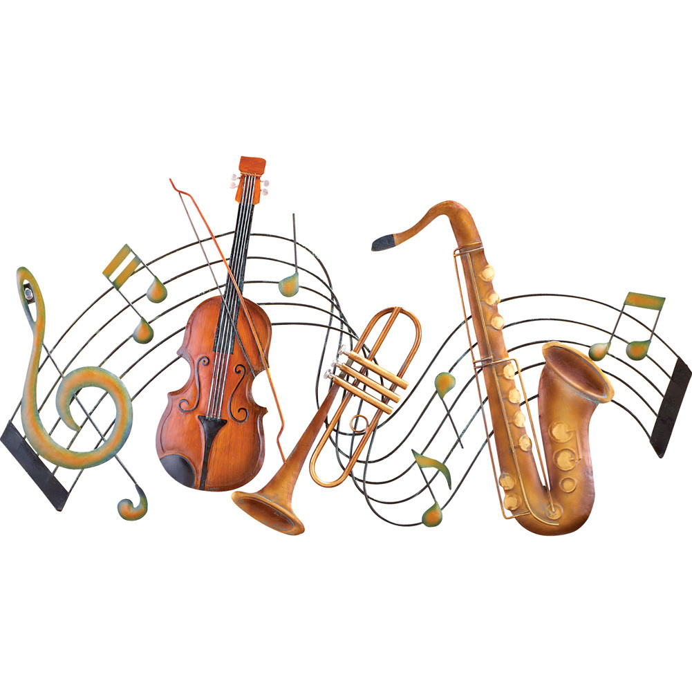 Best ideas about Music Wall Art . Save or Pin Metal Instrument and Music Notes Wall Art by Collections Now.
