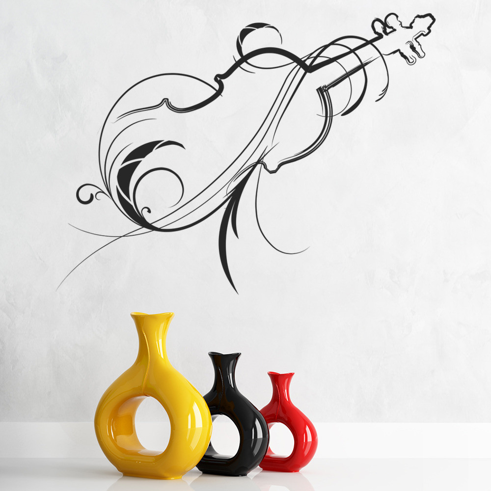 Best ideas about Music Wall Art . Save or Pin Decorative Violin Outline Musical Notes & Instruments Wall Now.