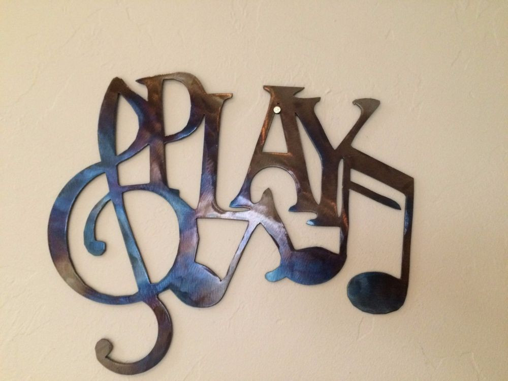 Best ideas about Music Wall Art . Save or Pin Play Music Notes Metal Wall Art Decor Now.