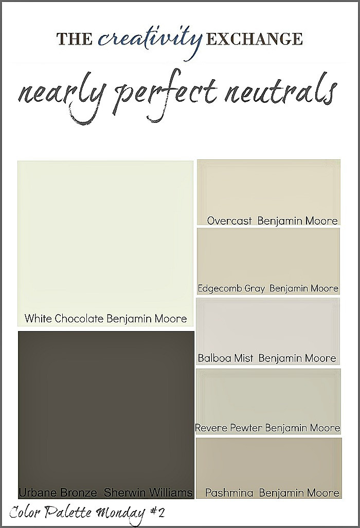 Best ideas about Neutral Paint Colors . Save or Pin Nearly Perfect Neutrals Color Palette Monday 2 Now.