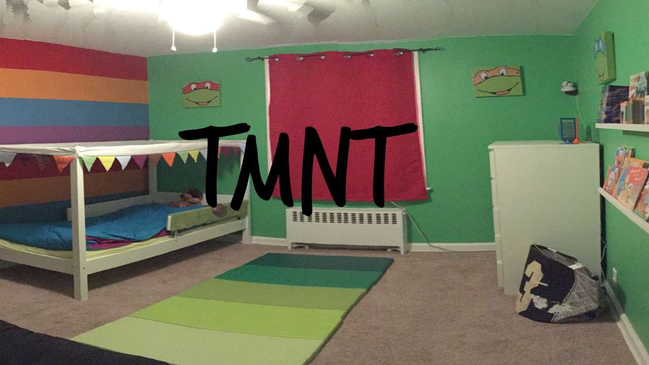 Best ideas about Ninja Turtles Bedroom Decorations . Save or Pin Teenage Mutant Ninja Turtle Themed Bedroom for Toddler Now.