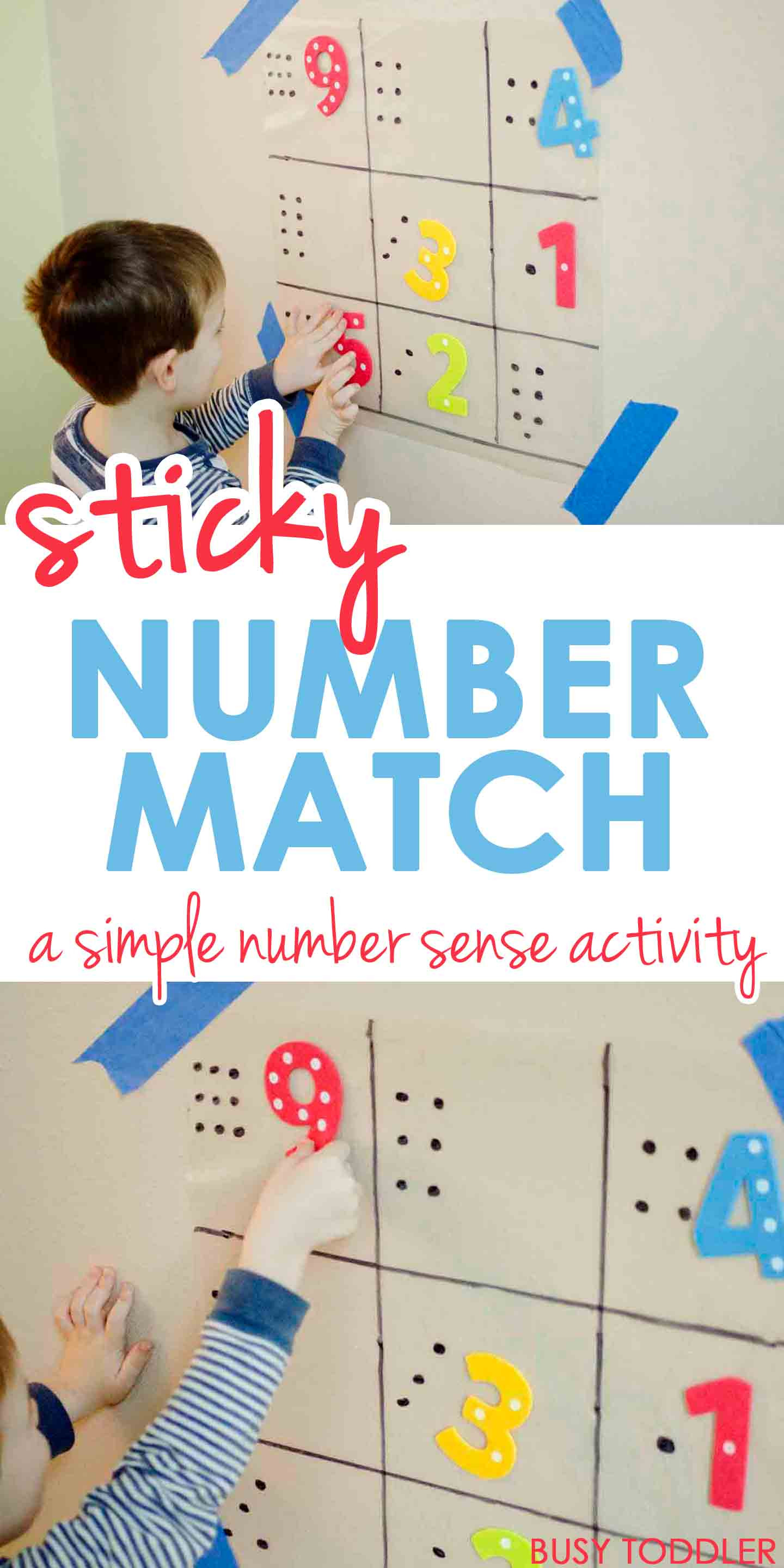 Best ideas about Number Crafts For Preschoolers . Save or Pin Sticky Number Match Busy Toddler Now.