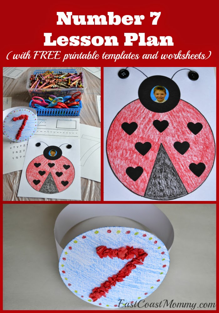 Best ideas about Number Crafts For Preschoolers . Save or Pin East Coast Mommy Number Crafts Number SEVEN Lovely Now.