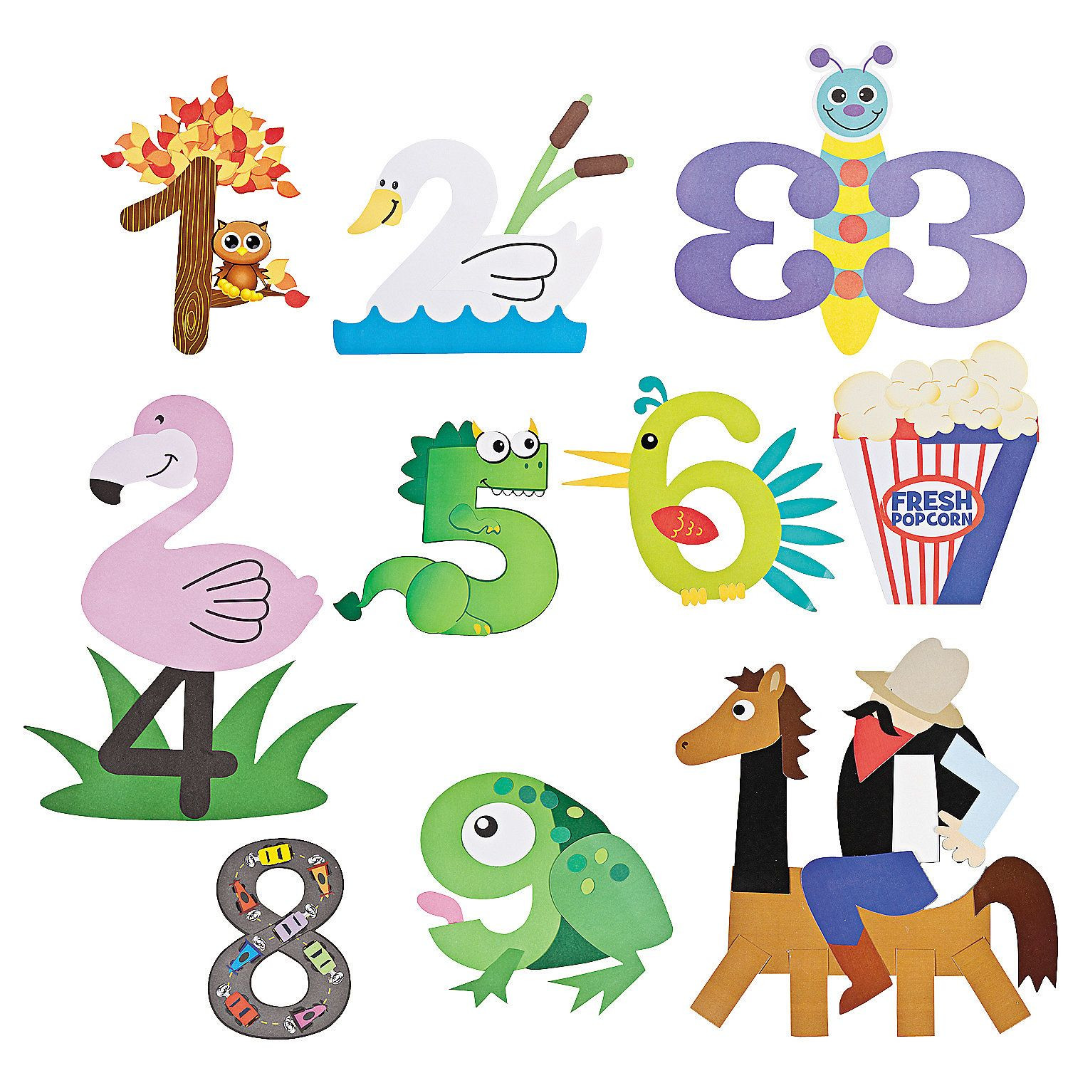 Best ideas about Number Crafts For Preschoolers . Save or Pin Number Craft Kits OrientalTrading Now.
