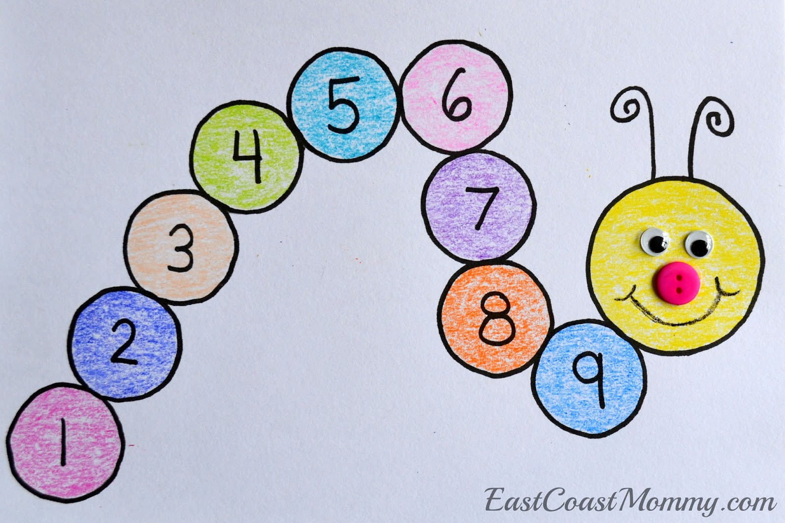 Best ideas about Number Crafts For Preschoolers . Save or Pin East Coast Mommy Number Crafts Number NINE Monster Now.