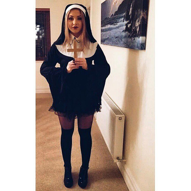Best ideas about Nun Costume DIY . Save or Pin Black Dress Halloween Costumes Now.