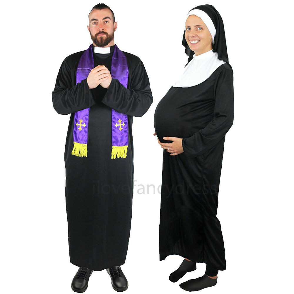 Best ideas about Nun Costume DIY . Save or Pin PRIEST OR PREGNANT NUN COSTUME RELIGIOUS FUNNY FANCY DRESS Now.