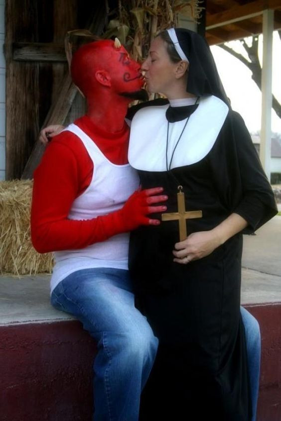 Best ideas about Nun Costume DIY . Save or Pin Homemade Devil and Funny on Pinterest Now.