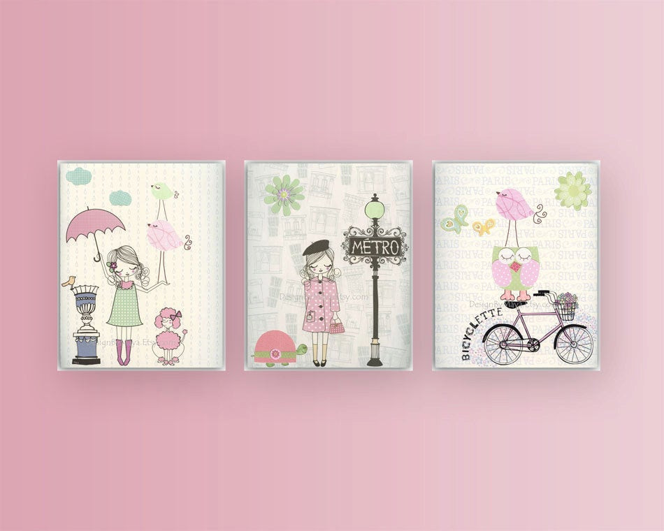 Best ideas about Nursery Wall Art . Save or Pin Nursery wall art print Baby room decor Baby girl Paris Now.