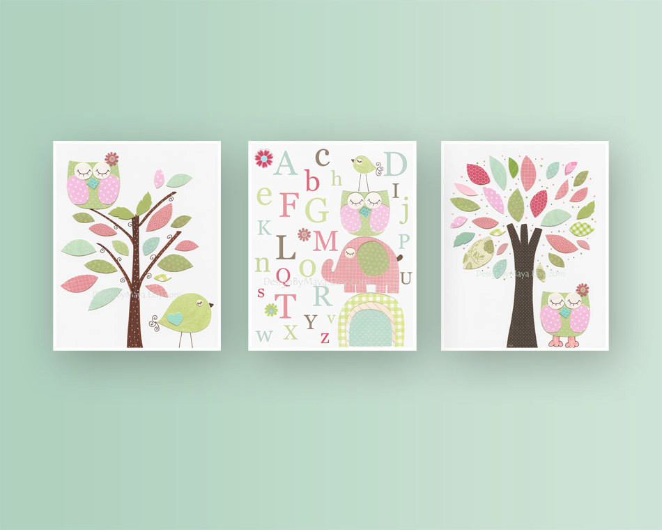 Best ideas about Nursery Wall Art . Save or Pin Girl Nursery Décor Girl Nursery Art Baby Girl Nursery Wall Now.