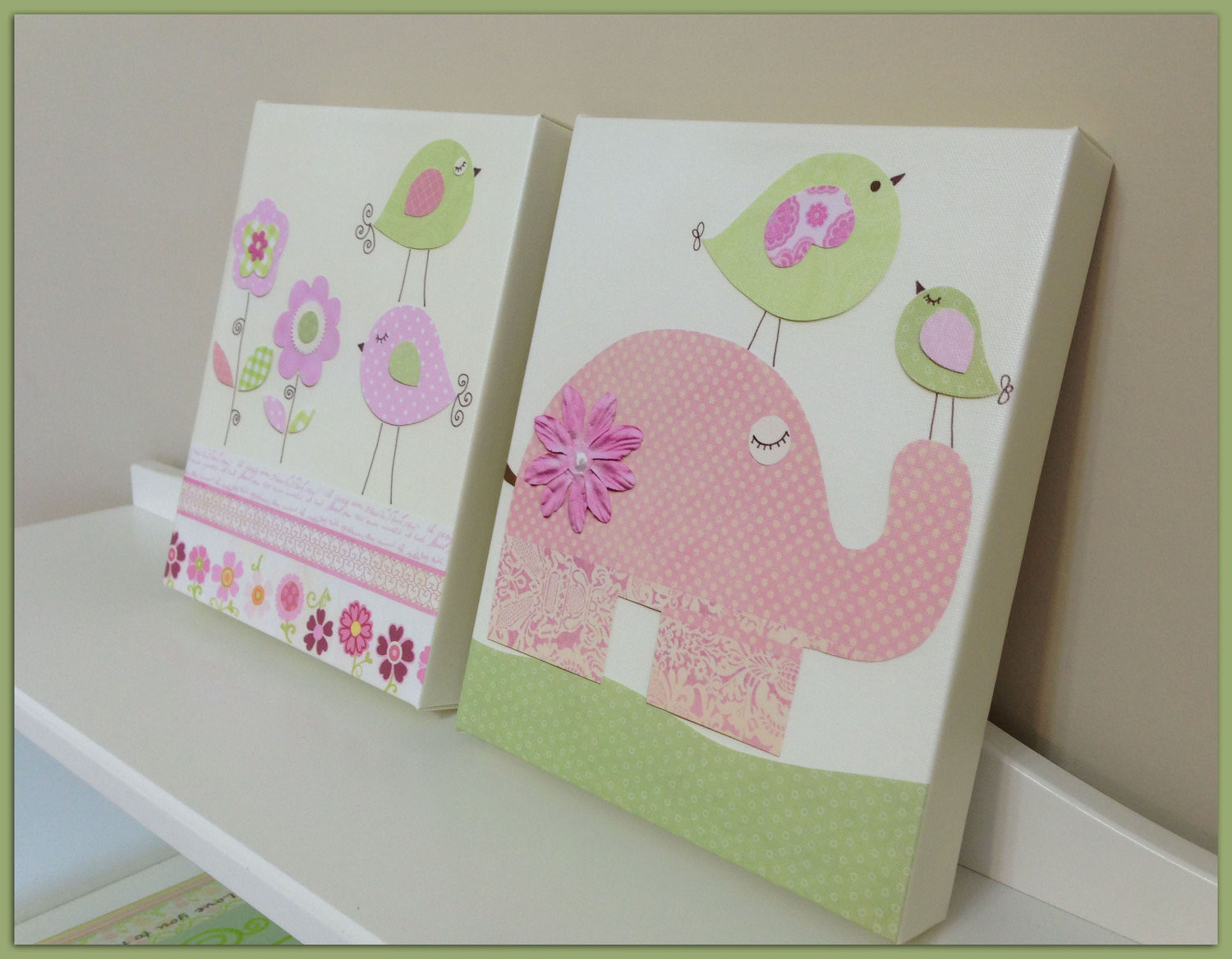 Best ideas about Nursery Wall Art . Save or Pin Baby girl Room Decor Nursery Wall Art canvas baby girll room Now.
