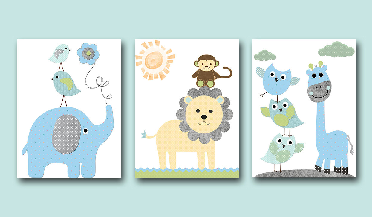 Best ideas about Nursery Wall Art . Save or Pin Baby Boy Nursery Wall Decor Kids Wall Art Kids Art Giraffe Now.