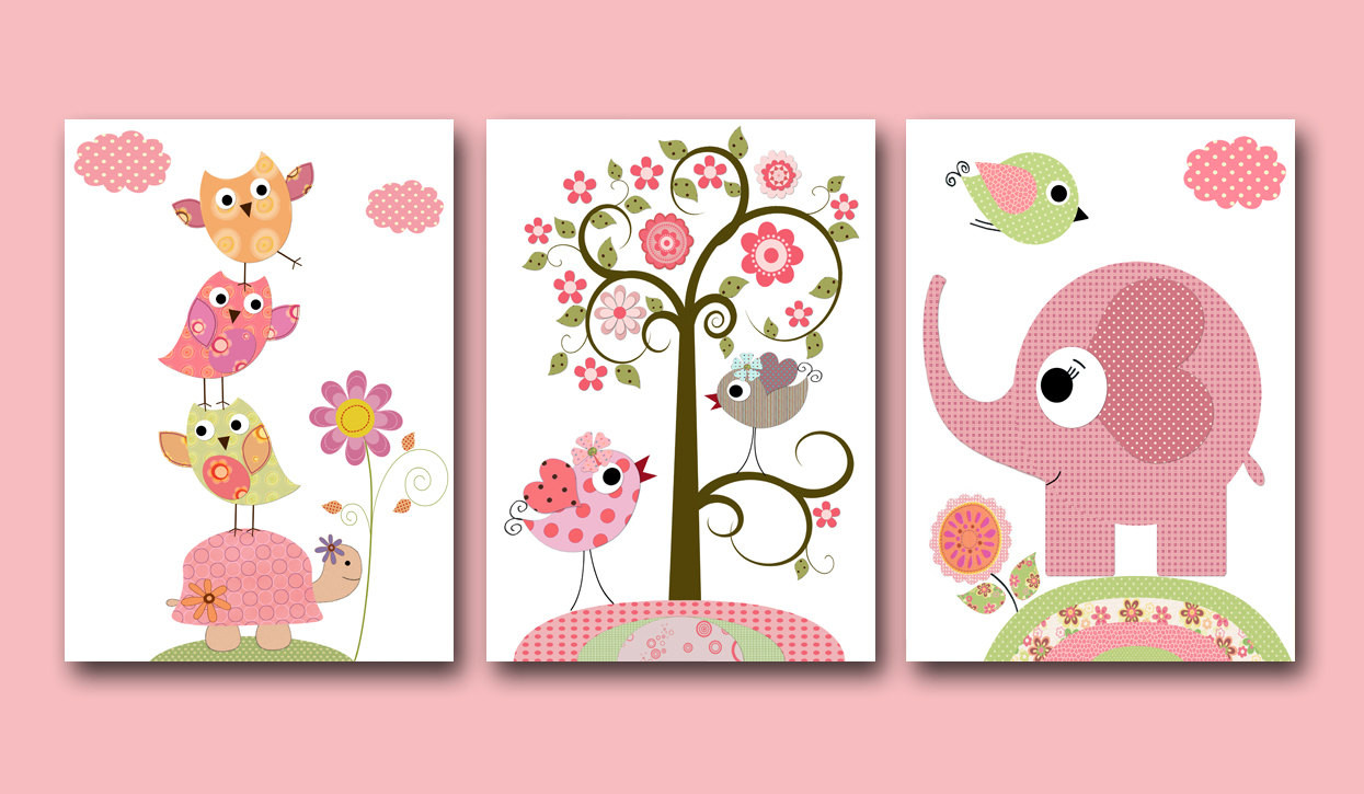 Best ideas about Nursery Wall Art . Save or Pin Kids Wall Art Baby Girl Nursery Baby Girl Room Decor Nursery Now.