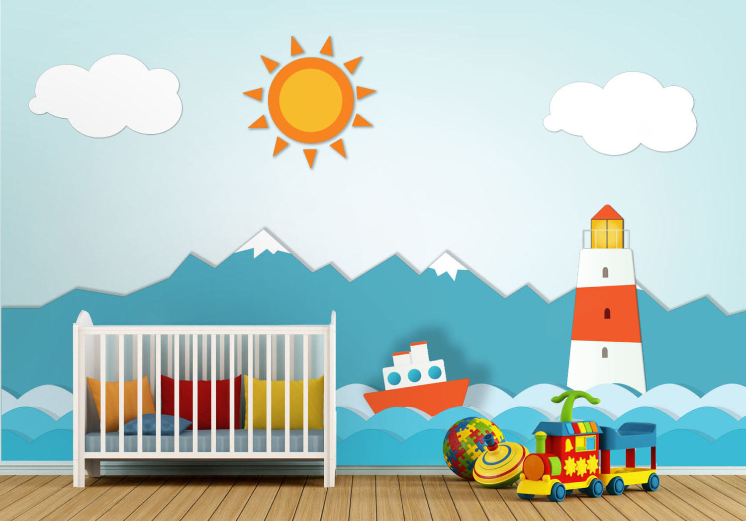Best ideas about Nursery Wall Art . Save or Pin Lighthouse Nursery Wall Art Moonwallstickers Now.