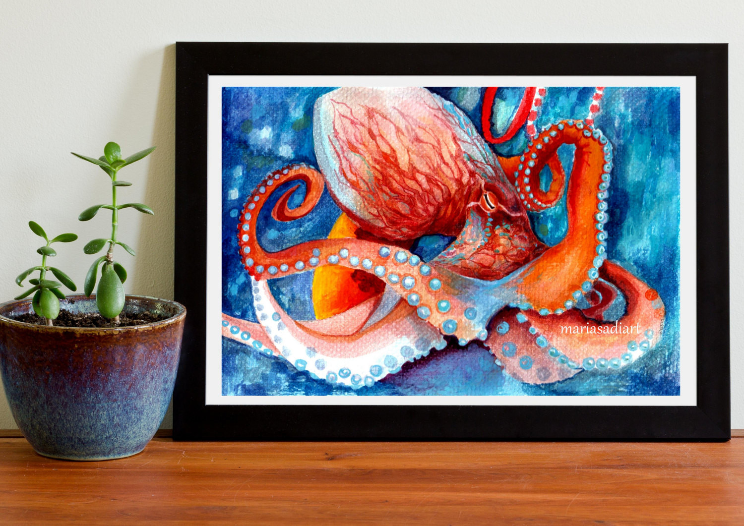 Best ideas about Octopus Wall Art . Save or Pin octopus wall art sea home decor octopus art print watercolor Now.