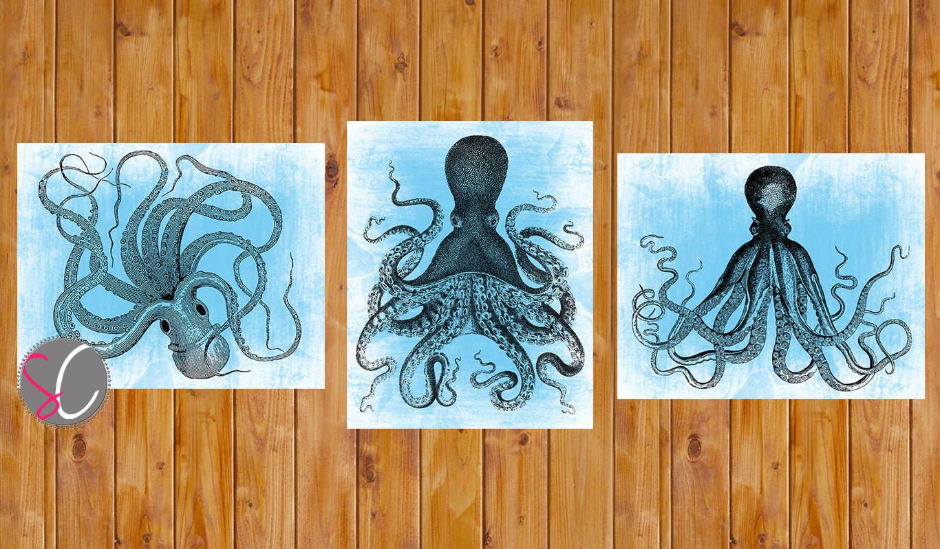 Best ideas about Octopus Wall Art . Save or Pin Octopus Wall Art Decor Beach House Ocean Art Nautical Now.