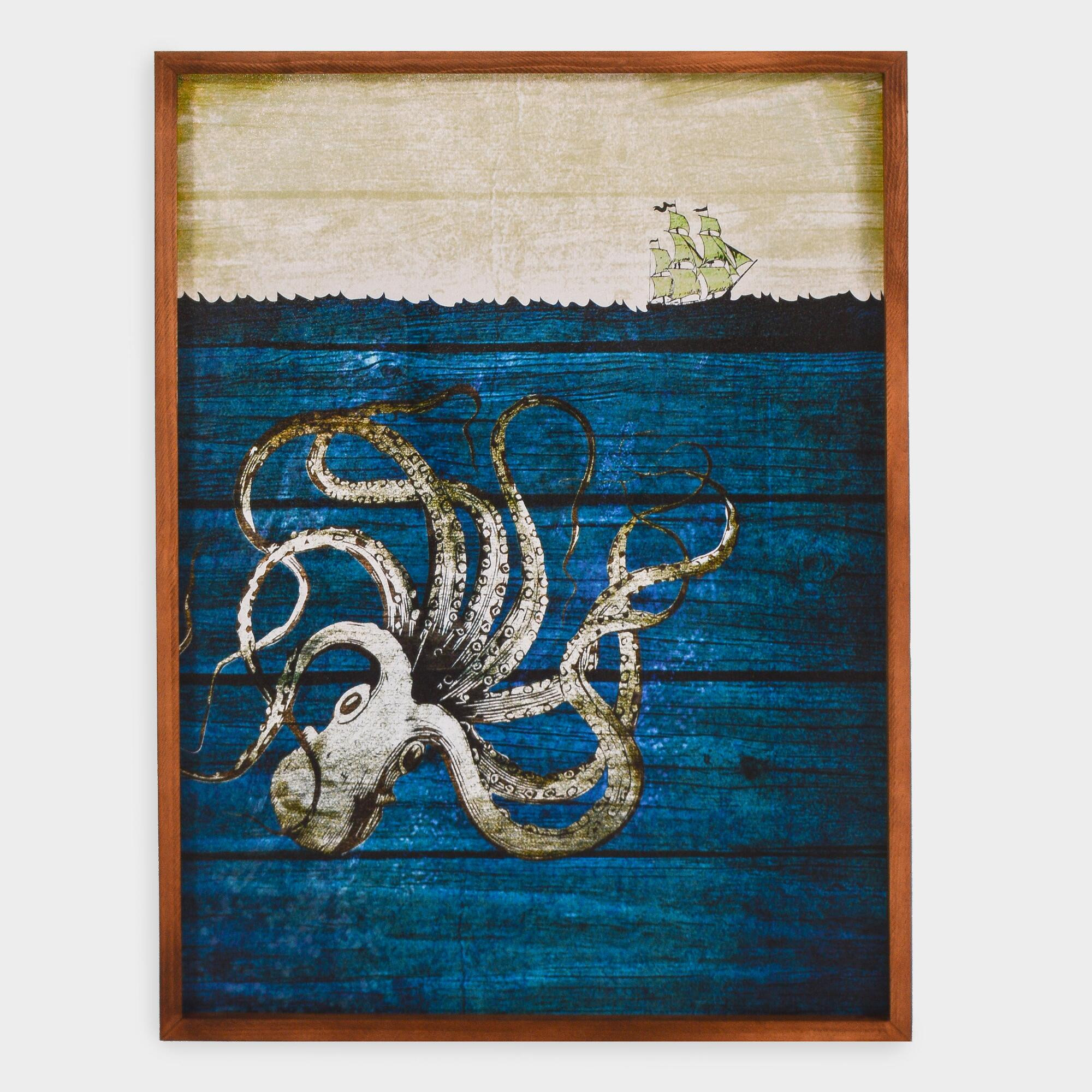 Best ideas about Octopus Wall Art . Save or Pin Rustic Octopus Wall Art Now.