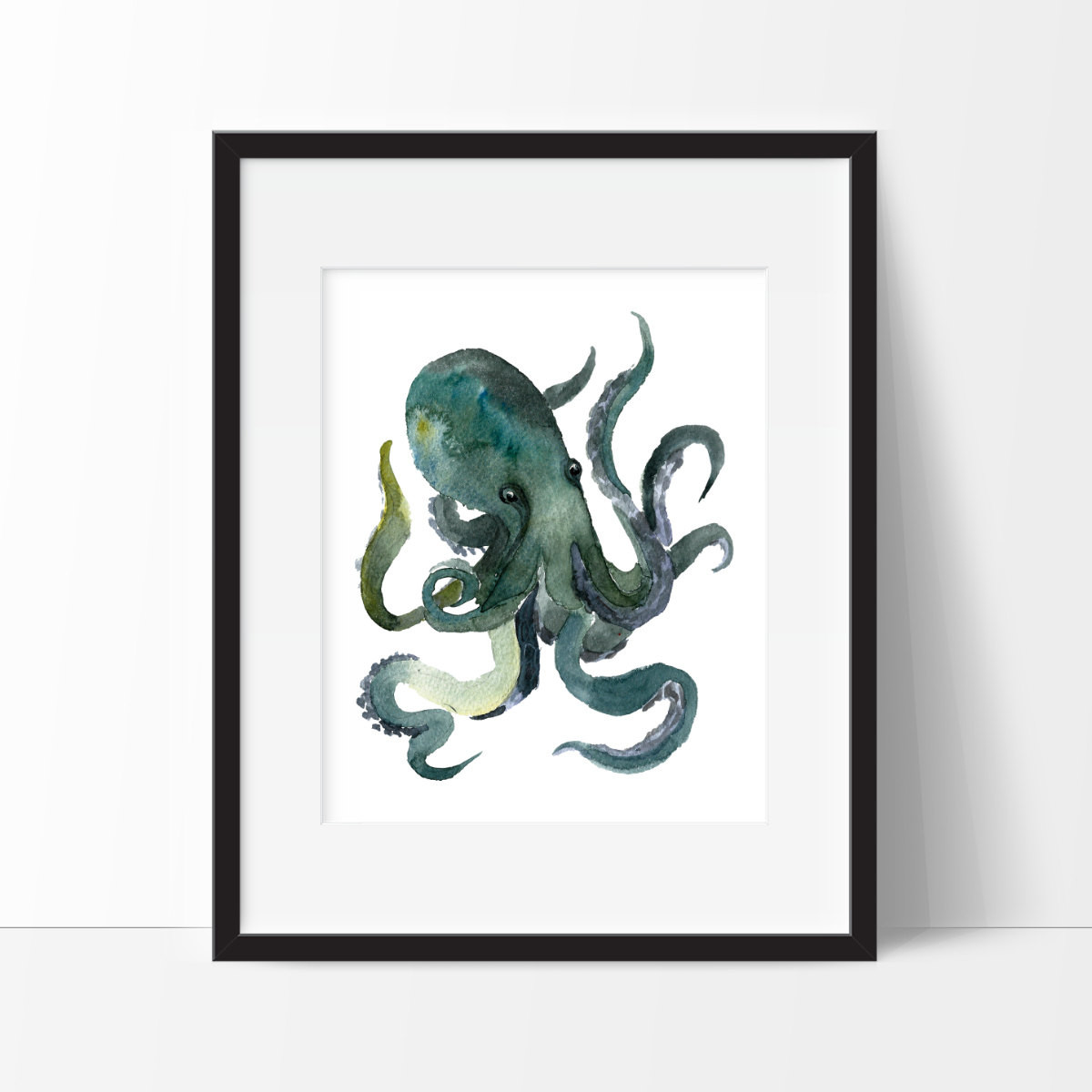 Best ideas about Octopus Wall Art . Save or Pin Octopus Art Nautical Bathroom Wall Decor Nautical Watercolor Now.