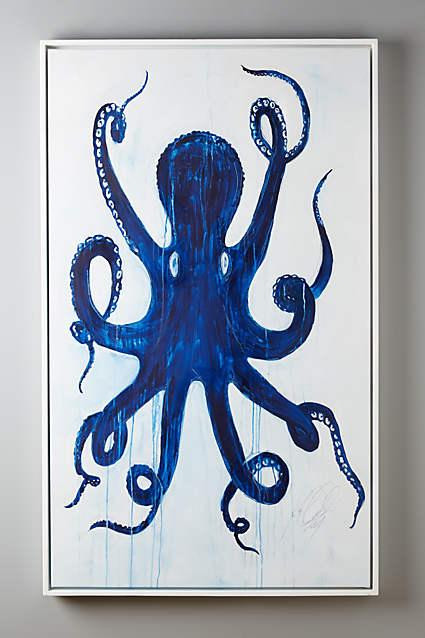 Best ideas about Octopus Wall Art . Save or Pin Pulpo Blue Wall Art Now.