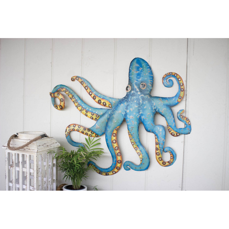 Best ideas about Octopus Wall Art . Save or Pin Hammered Recycled Metal Octopus Wall Hanging Now.