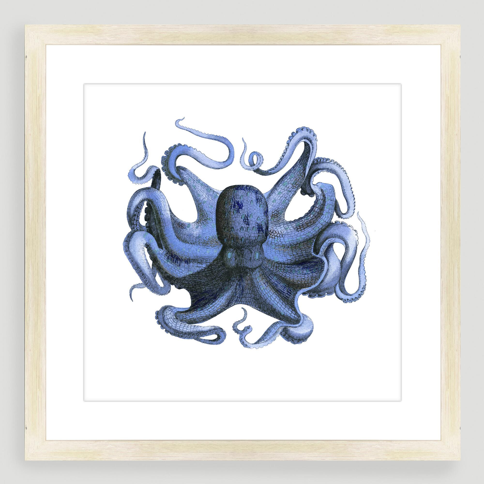 Best ideas about Octopus Wall Art . Save or Pin Vintage Style Octopus Sea Life Wall Art Now.
