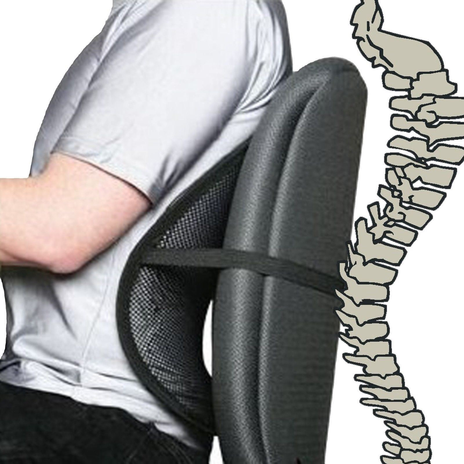 Best ideas about Office Chair Lumbar Support . Save or Pin Black Cool Air Back Mesh Lumbar Home fice Car Seat Chair Now.