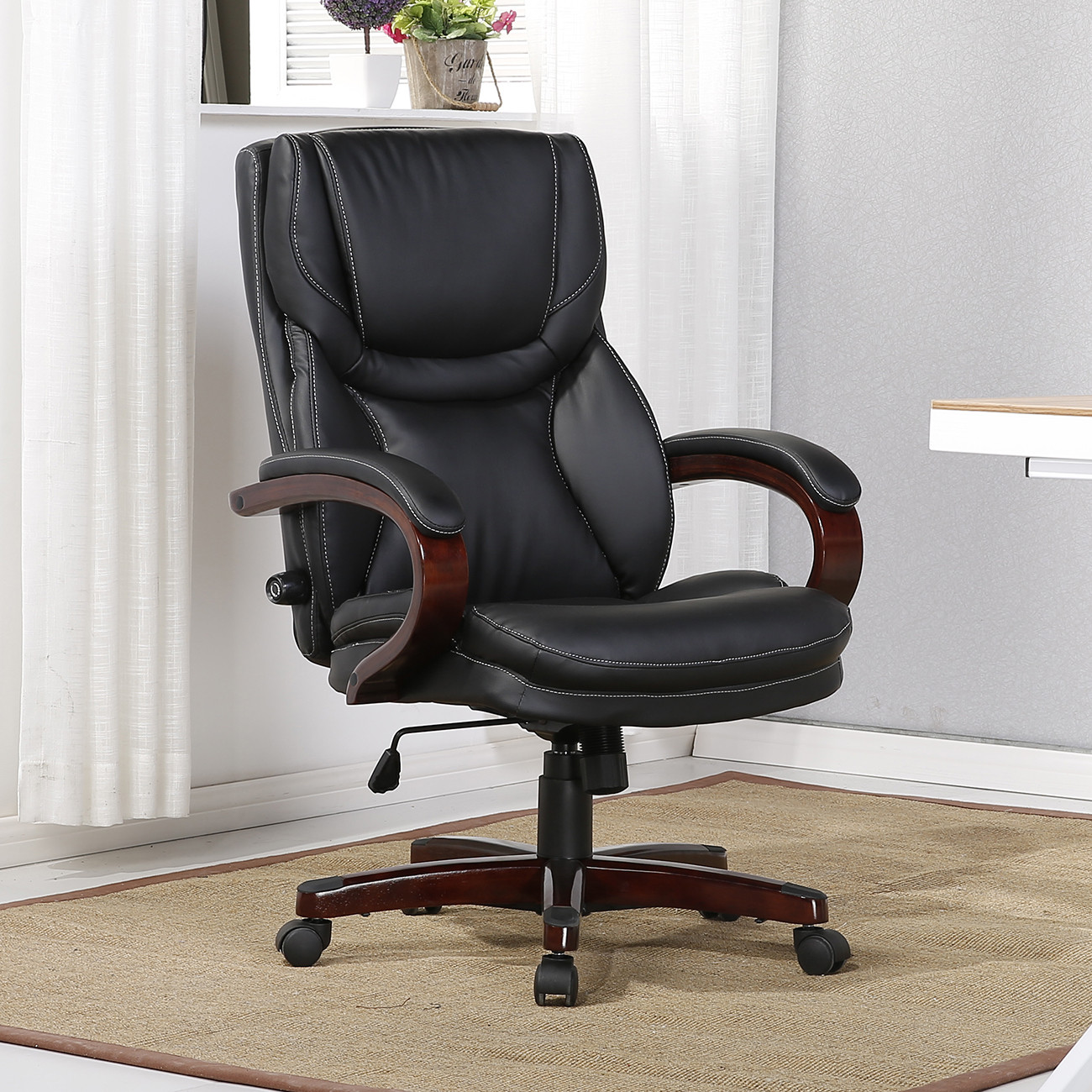 Best ideas about Office Chair Lumbar Support . Save or Pin Executive Chair High Back fice Desk Arm Lumbar Support Now.
