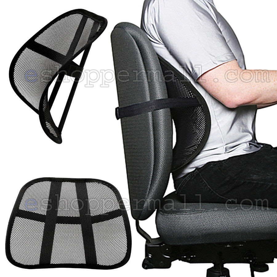 Best ideas about Office Chair Lumbar Support . Save or Pin Cool Mesh Back Lumbar Support Vent Cushion Car fice Now.