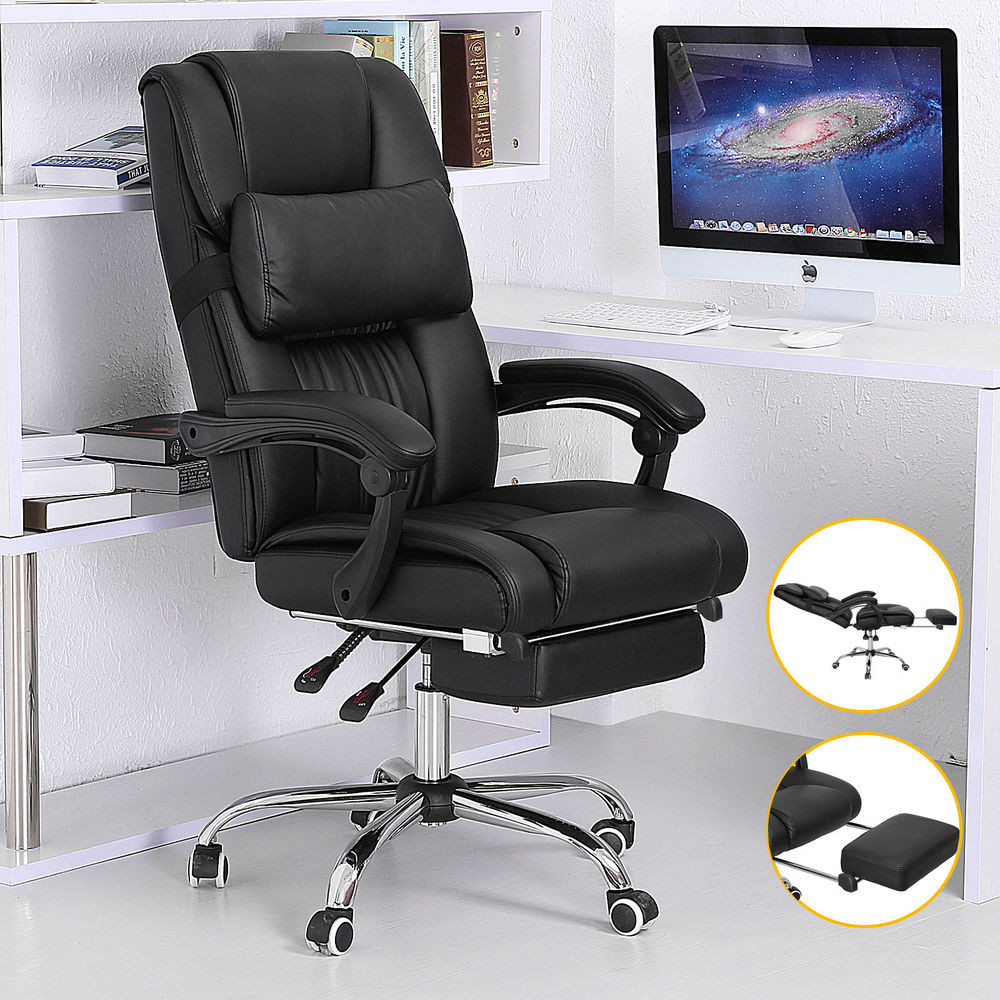 Best ideas about Office Chair Recliner . Save or Pin Furniture Best Reclining fice Chair With Footrest Now.