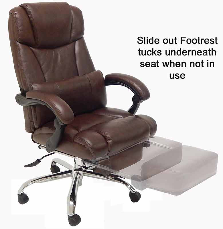 Best ideas about Office Chair Recliner . Save or Pin Leather Reclining fice Chair w Footrest Now.