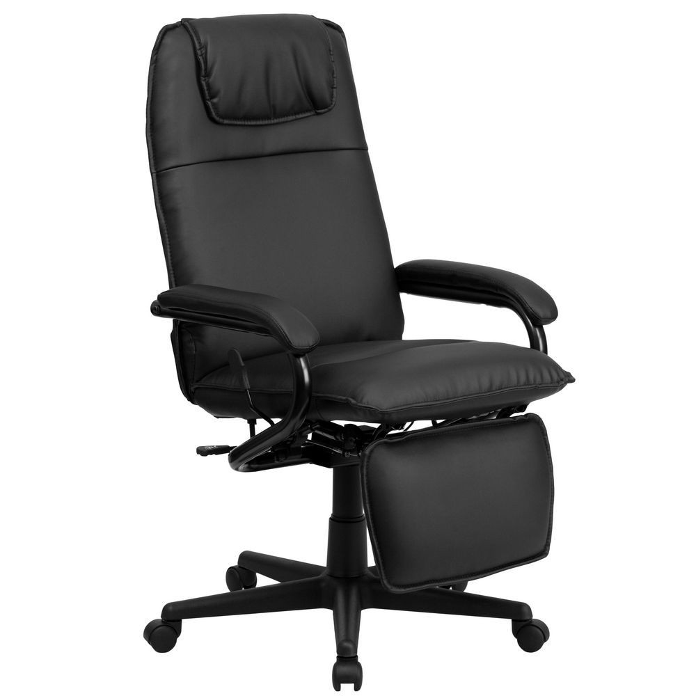 Best ideas about Office Chair Recliner . Save or Pin Flash Furniture BT BK GG High Back Black Leather Now.