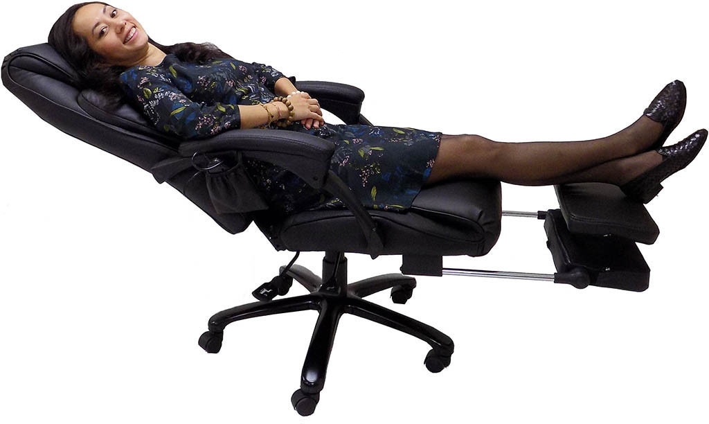 Best ideas about Office Chair Recliner . Save or Pin Heated Massage Reclining Leather fice Chair w Footrest Now.