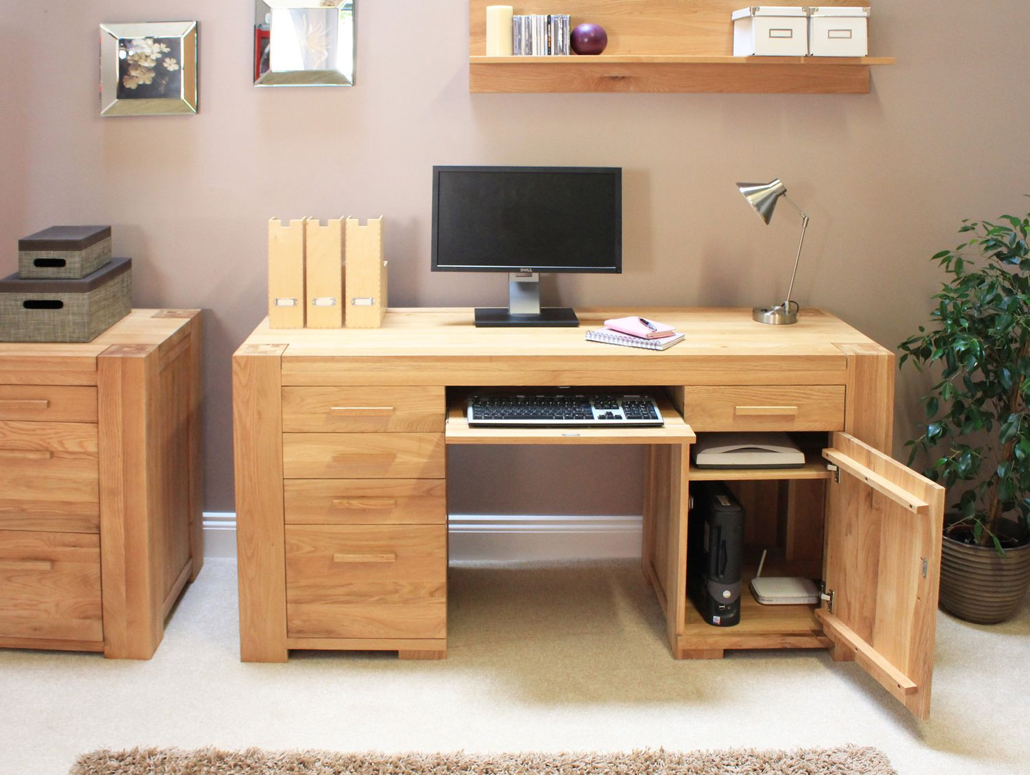 Best ideas about Office Desks For Home . Save or Pin Cool Home Interior Design Ideas Awesome Pine Desks for Now.