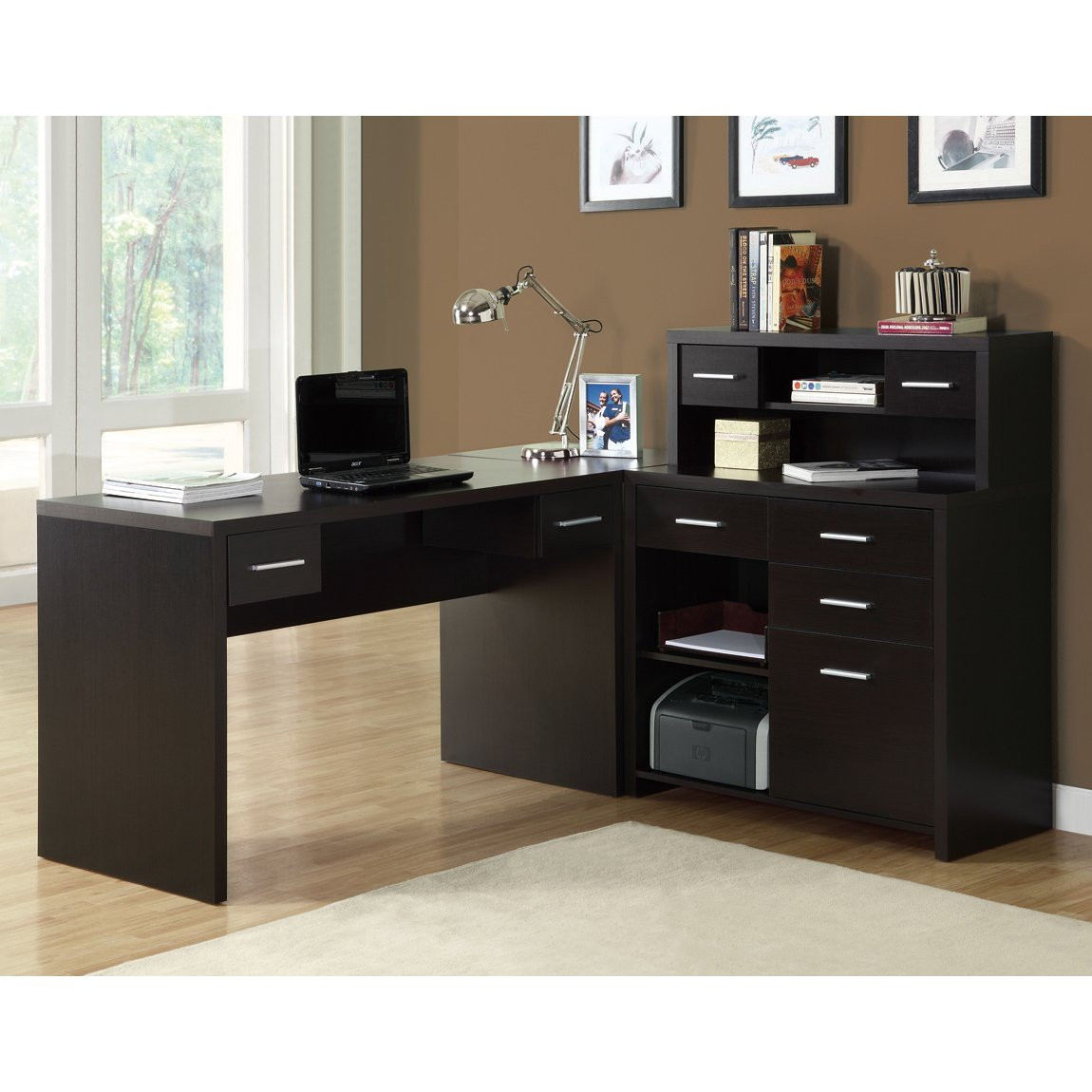 Best ideas about Office Desks For Home . Save or Pin Monarch Specialties I 7 L Shaped Home fice Desk Now.