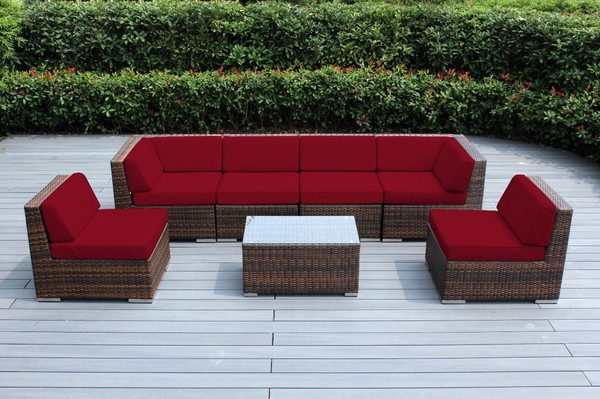 Best ideas about Ohana Patio Furniture . Save or Pin Ohana Outdoor Patio Wicker Furniture 7 Piece Seating Now.