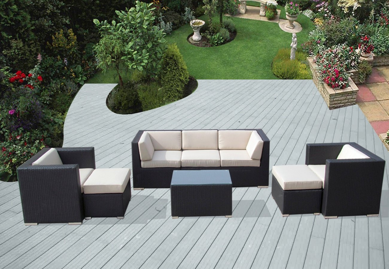 Best ideas about Ohana Patio Furniture . Save or Pin Ohana Piece Outdoor Wicker Patio Furniture Sectional Sets Now.
