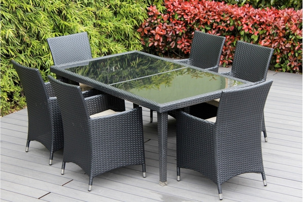 Best ideas about Ohana Patio Furniture . Save or Pin Beautiful Outdoor Patio Wicker Furniture Dining Set New Now.