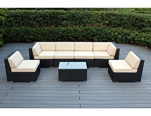 Best ideas about Ohana Patio Furniture . Save or Pin Ohana 7 Piece Outdoor Patio Furniture Sectional Now.