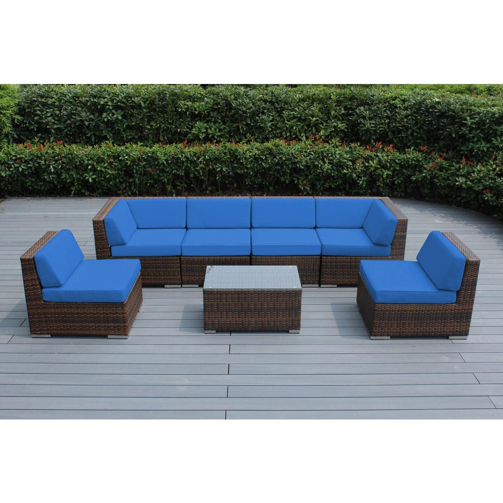 Best ideas about Ohana Patio Furniture . Save or Pin Ohana Depot Ohana Mixed Brown 7 Piece Wicker Patio Seating Now.